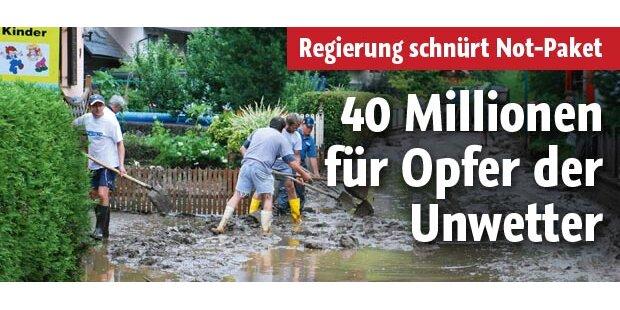 40 Millionen für die Unwetter-Opfer