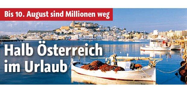 Halb Österreich im Urlaub