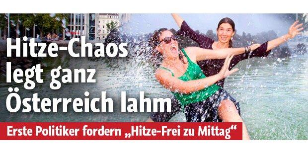 Hitze-Chaos legt Österreich lahm