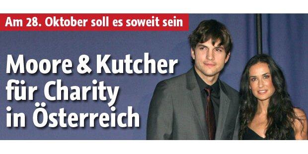 Kutcher und Moore am 28. Okt. in Linz