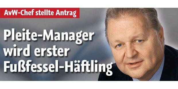 Pleite-Manager wird 1. Fußfessel-Häftling