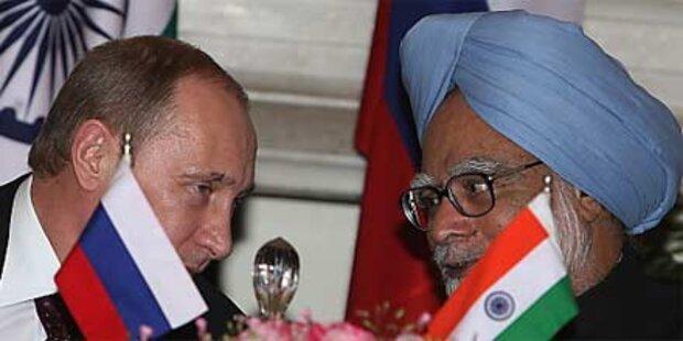 Russland liefert Atomreaktoren an Indien