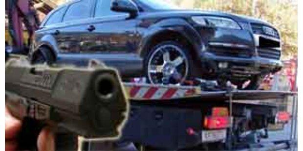Mann drohte Abschleppwagenfahrer mit Erschießen
