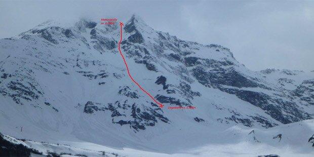 Bergsteiger überlebt 800-Meter-Absturz