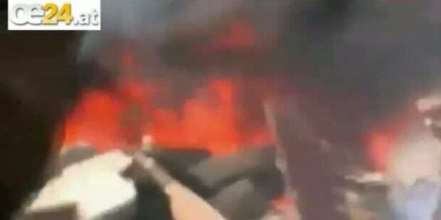 Live-Video von Flugzeugabsturz