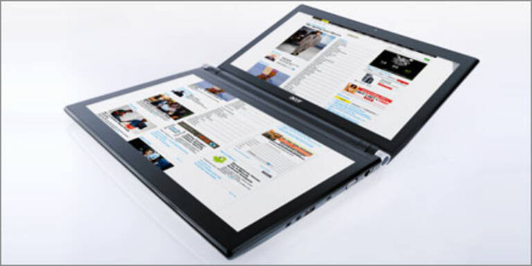Dual-Screen-Rechner mit Top-Ausstattung
