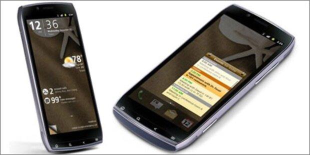 Android-Smartphone mit Breitbild-Display