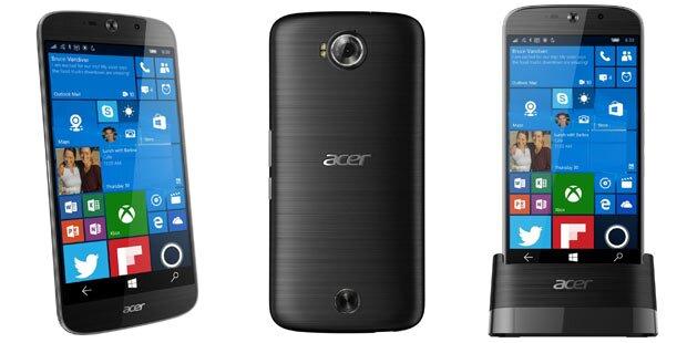 Acer bringt Windows 10 Top-Smartphone