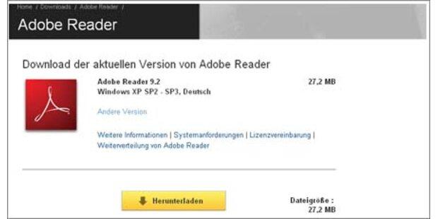 Adobe Reader 9.2 ab sofort verfügbar