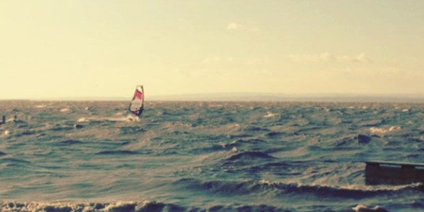 Windsurfer am Neusiedler See