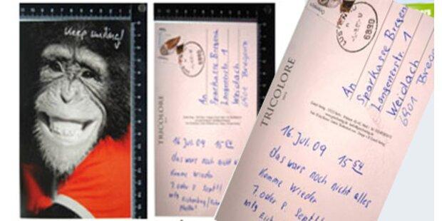 Serienräuber narrt Polizei mit Postkarte