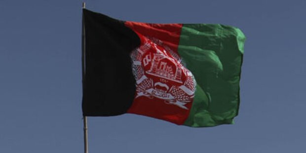 Afghanische Flagge weht über Marjah