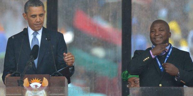 Mandela-Dolmetscher halluzinierte