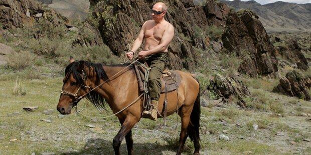 """Putin: """"Habe keine schlechten Tage, bin ja keine Frau"""