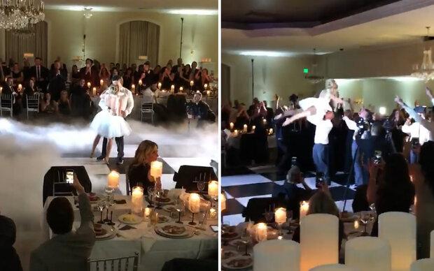"""Brautpaar tanzt zu """"Dirty Dancing"""""""