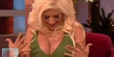 Stillen macht Aguilera verlegen