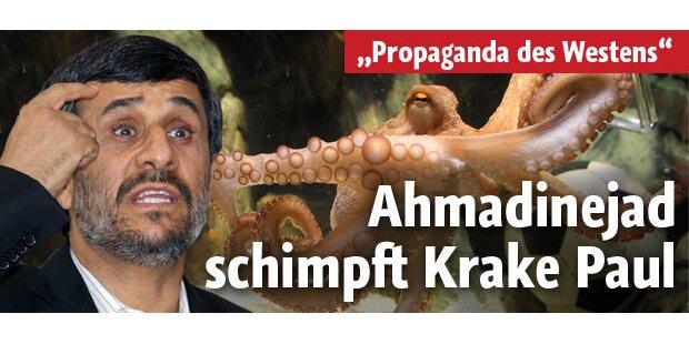 Ahmadinejad schimpft auf WM-Krake Paul