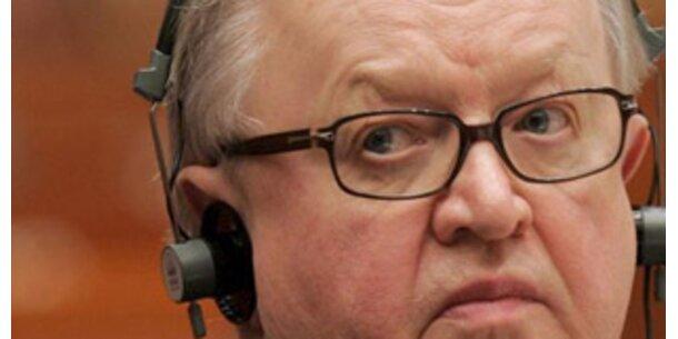 Friedensnobelpreis geht an Ex-Präsident Ahtisaari