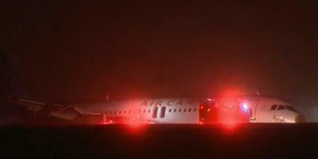 Airbus A320 legt Pannen-Landung hin