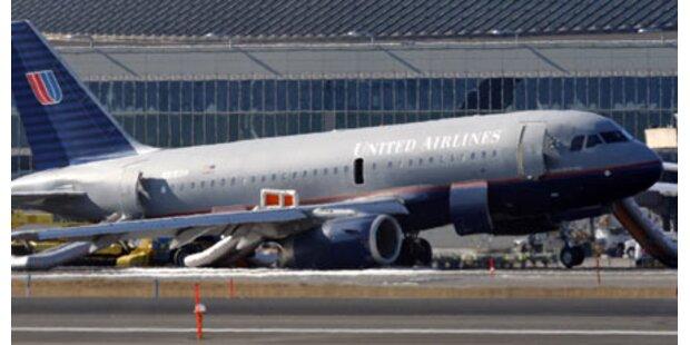 Airbus auf Flughafen Newark notgelandet