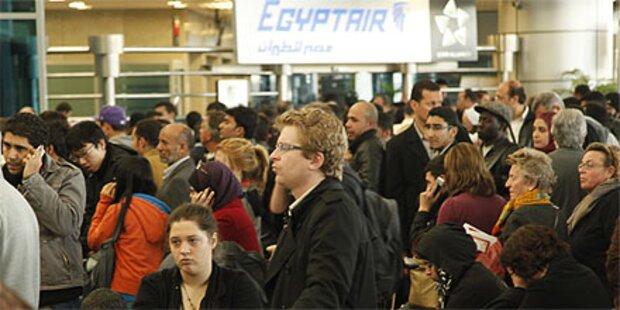 Chaos am Flughafen von Kairo