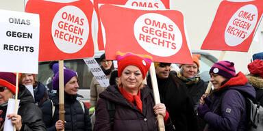 Ruhige Demos gegen rechten Kongress in OÖ