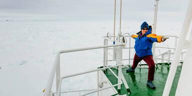 Gute Laune auf Antarktis-Schiff
