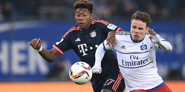 Alaba-Comeback: Bayern siegen in Hamburg