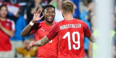 Österreich mit dem 2:0 gegen Schweden
