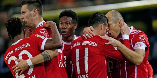 Alaba-Tor bei Bayern-Gala gegen Dortmund