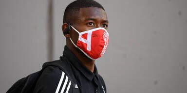 David Alaba bei Bayern München mit Maske