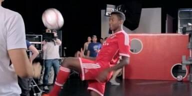 Ballkünstler David Alaba als Werbestar