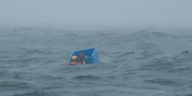 Nach Schiffbruch in Plastikkiste überlebt