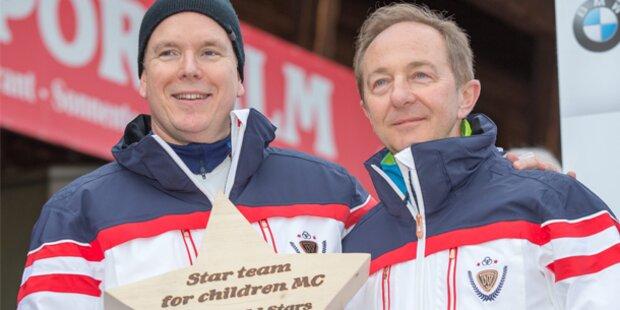 Albert von Monaco bei Charity-Biathlon