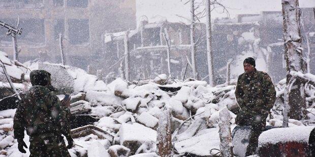 Aleppo-Drama: Jetzt kommt auch noch Schnee