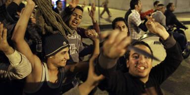 Straßenschlacht im Zentrum von Alexandria