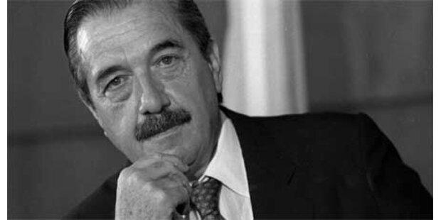 Ex-Präsident Raul Alfonsin gestorben