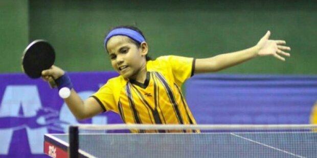 Zehnjährige spielt bei Tischtennis-WM