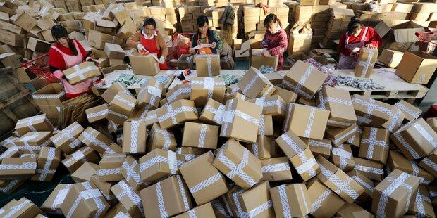 560 Mio. Alibaba-Pakete schwemmen EU