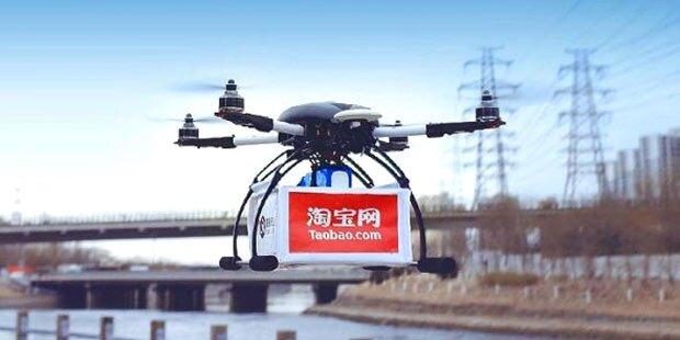 Alibaba liefert jetzt per Drohne aus