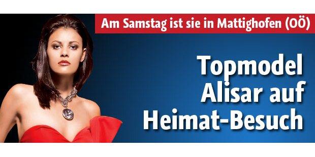 Topmodel Alisar am Samstag bei Stadtfest