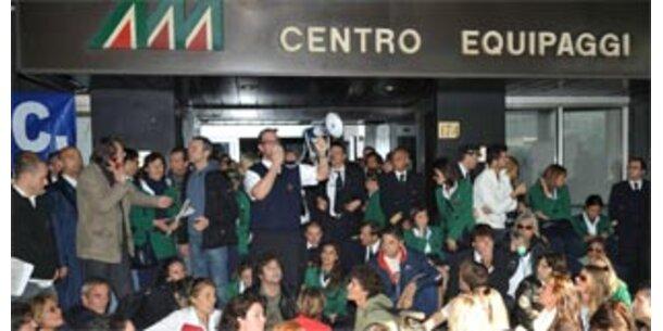 Wilde Streiks führen zu Flugausfällen bei Alitalia