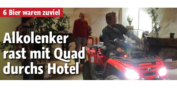 6 Bier: Alkolenker rast durchs Hotel