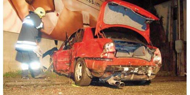 Fünf Verletzte bei Alko-Unfall