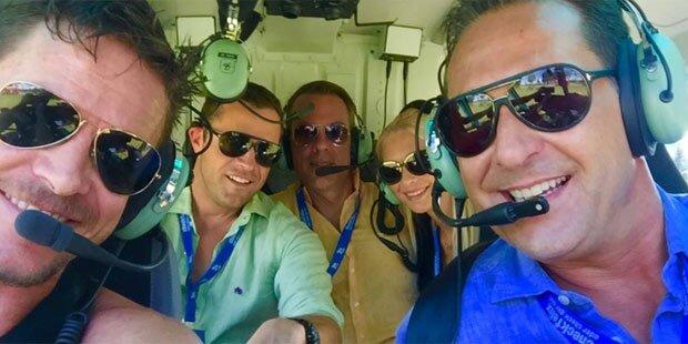 All-Felix: Heli-Flug mit Strache