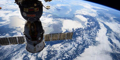 Das sind die Schnee-Alpen aus dem All
