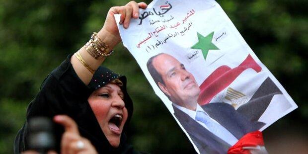 Al-Sisi gewinnt Wahl mit 96,9 Prozent