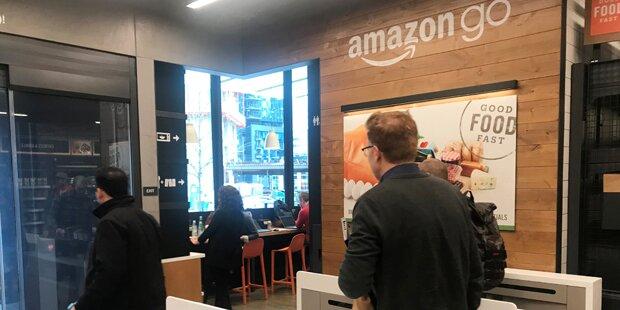 Amazon-Supermarkt ohne Kassen öffnet