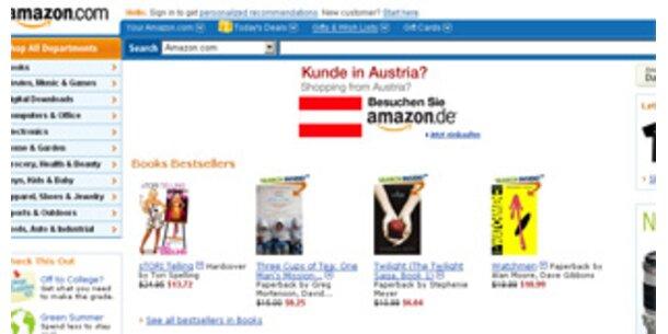 Online-Einzelhändler Amazon kann Gewinn verdoppeln
