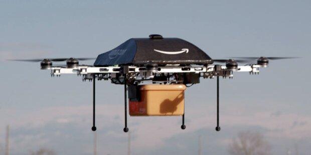 Amazon-Lieferung mit Mini-Drohnen